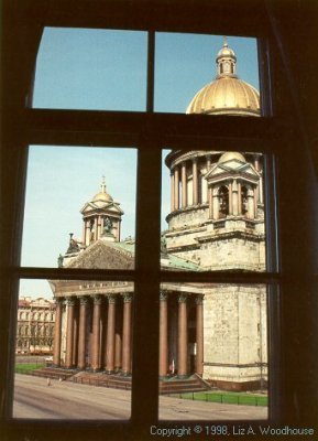 St. Isaac's Cathedral from hotel window